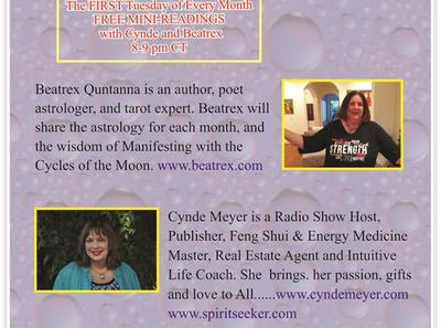 Cynde Meyer with Beatrex Quntanna FREE MINI-READINGS