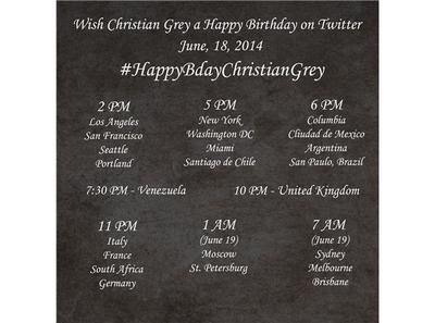 Christian grey birthday