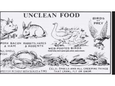 Seventh Day Adventist Unclean Foods List