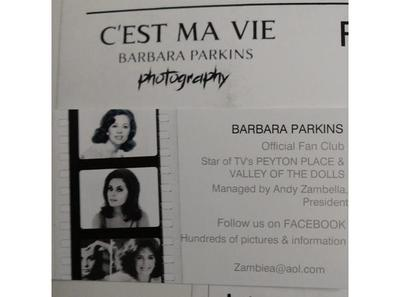 Legendary Actress Photographer Barbara Parkins Of Valley Of The